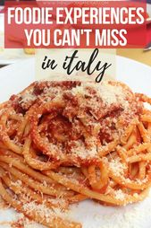5 Italian Meals Experiences You Want To Attempt