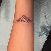 Glückliche kleine Berge von letzter Nacht #mountaintattoo #tattoo #ink #forarmtatto …