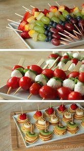 einfaches und schönes Fingerfood … kleine Vorspeisen sind mein Favorit – – #…