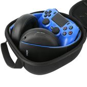 Khanka Hard Case Travel Storage Bag For Sony Playstation Ps4 Gold Wireless Stereo Headset For Playstati Sony Playstation Ps4 Sony Playstation Computer Headsets