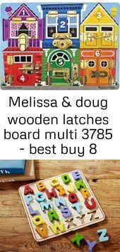 Melissa & doug wooden latches board multi 3785 – best buy 8