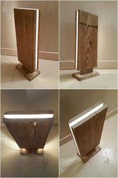 Reclaimed Wood Led Stehleuchte – Stehlampen, Holzlampen – Niedliche LED Stehleuchte aus