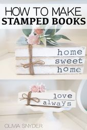 DIY Stamped Books