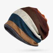 [AETRENDS] Heißer Verkauf Doppelschichten Baumwolle Gestreiften Hip Hop Skullies Winter Warme Hüte Schals Mützen Kopfbedeckungen Z-5004   – Skullies & Beanies