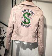 Southside Riverdale Serpents Pink/Black PU Leather-based Jackets