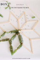 DIY grüner Winterstern – Winterdeko basteln