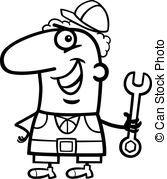 Worker Cartoon Coloring Page Oficios Wallpaper Hp Plomero