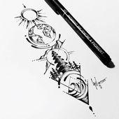Resultado de imagen de 4 elements earth tattoo | lou8 – Tatoeage ideeën, Schild…