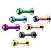 PVD-beschichteter G23-Titan-Kugelkopf-Labret-Monroe-Bolzen   – Labret | Monroe | Lip Piercings