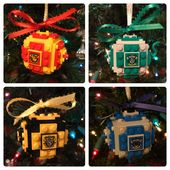 Harry Potter Lego Christbaumschmuck – Hogwarts: Slytherin, Hufflepuff, Ravenclaw, Gryffindor   – Products I Love