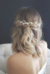 Super wedding hairstyles for long hair with viel hairdos Ideas #hair #wedding #hairstyles