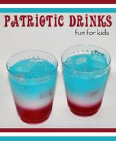 Red, White, & Blue Layered Kids Drink {4th of July}   – July 4th crafts & recipes