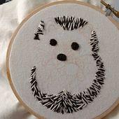 Digital Hand Embroidery Sample: Hedgehog – Thread Portray Design – Digital Obtain PDF – Fashionable Embroidery – DIY Embroidery Hoop Artwork