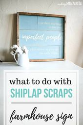 DIY Farmhouse Sign with Shiplap – Marriage Quote