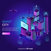 Download Isometric Smart City for free