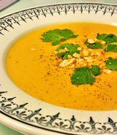 Crema de zanahorias y batatas à la Thaï   – Soupes