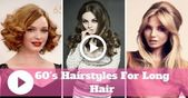 Easy & Cute 60s Frisuren für langes Haar - Vintage Long Hairstyles - #hairstyles #vintage - #new