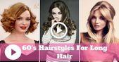 Easy & Cute 60s Frisuren für langes Haar - Vintage Long Hairstyles - #hairstyles #vintage - #new