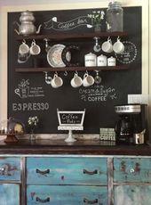 39+ Ideas farmhouse kitchen coffee bar joanna gaines