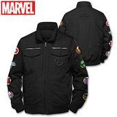 MARVEL Avengers Black Nylon Jacket With 8 Applique Patches – cositas