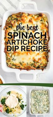 You're going to LOVE this easy, delicious classic SPINACH ARTICHOKE DIP recipe. …