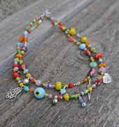 Layered Necklace – Boho Necklace – Charm Necklace – Wanderlust Jewelry – Evil Eye Protecion – Hamsa – Tribal Jewelry – OOAK – Handmade – Products