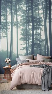 Sea of Trees Forest Mural Wallpaper | MuralsWallpaper