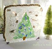 Seaglass Christmas mit Bäumen, Ornamenten, Girlanden und mehr   – Crafts