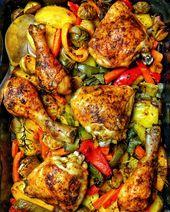 Hähnchen mit Gemüse aus dem Ofen – Rezepte – Kochrezepte – Kochen – Instakoch ….   – mittagessen