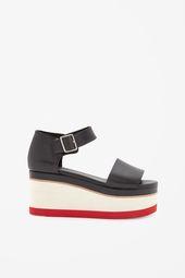 Contrast Wedge Shoes Chaussure Sandales Accessoires