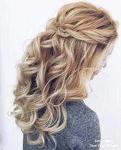 Half up, half down, we have #wedding hairstyles # PromhairstylesHilfHalbabsenken – #die #HABEN # halfopen # –