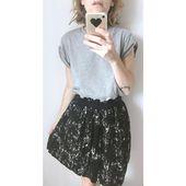 Jupe noire et blanche grace & mila taille s – Jupe noire et blanche grace & mila …   – MODE