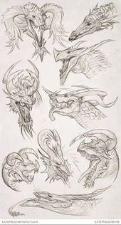 Daily Dragons by *KatePfeilschiefter on deviantART Inspiring Artist Sketchbooks - Resources for Art Students CAPI- Create Art Portfolio Ideas @ millia...