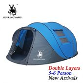 HUI LINGYANG Throw pop up tent 5-6 Person outdoor automatic tents Double Layers …