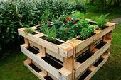 ᐅ Hochbeet aus Paletten selber bauen