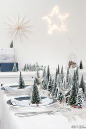 DIYnachten: Winterwald Tischdeko mit NOCH kreativ