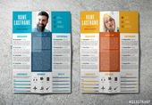 Resume Layout in Two Colors. Buy this stock template and explore similar templates at Adobe Stock