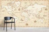 3D Vintage World Map Wall Ship Mural Wallpaper 20 – Jessartdecoration