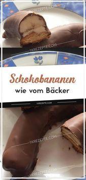 Chocolate bananas as from the baker- Schokobananen wie vom Bäcker  Chocolate ba… – Cake Decoration