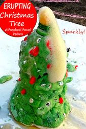 Christmas Science Activity: Sparkly Erupting Christmas Tree Experiment