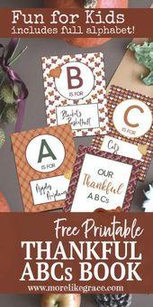 Dankbare ABCs – kostenlos zum ausdrucken  – Fonts, Printables & Graphics