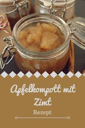 Apple compote with cinnamon and vanilla for autumn