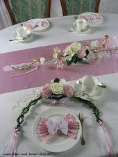 Tischgesteck rosa Taufe M Mädchen Tischgesteck rosa # Mädchen #Rosa #Taufe #Ti…