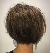 Short Choppy Brown Bob – Lange Haare