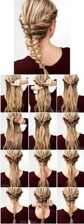 A great guide for a super braiding hairstyle. Step by step ih comes – #anleitung #flechtfrisur # kommt #step #super