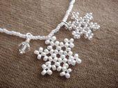 Schneeflocke Halskette, Schneeflocke Charm Halskette, Brautjungfer Halskette, Hochzeit Juwel …   – Perlen
