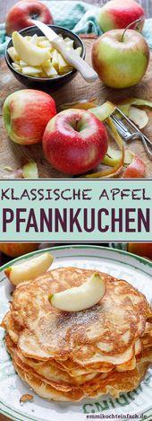 Apfelpfannkuchen klassisch und fluffig