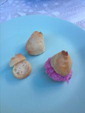 Vegane Windbeutel gefüllt mit Blaubeer-Zitronen-Vegan-Zuckerguss (oder …