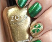 Prime 10 Fortunate Shamrock Nail Artwork Tutorial For St. Patrick's Day