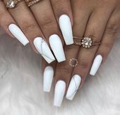 57 Marble Nail Art Design Useful For Everyone – #art #Design #Marble #nail #nail…